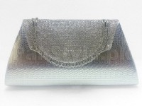 Girls Fancy Clutch Bag - Silver in Pakistan