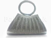 Fancy Silver Clutch Purse in Pakistan