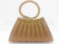 Fancy Golden Clutch Purse in Pakistan
