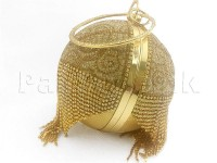 Luxury Ball Shaped Diamante Bridal Clutch - Golden in Pakistan