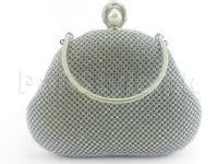 Luxury Sparkly Bridal Clutch - Silver in Pakistan