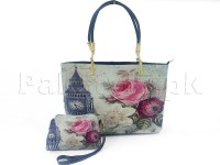 Big Ben Clock Tower Handbag with Mini Pouch in Pakistan