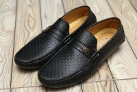 Check Design Men's Loafers Black in Pakistan