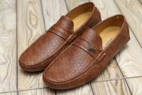 Check Design Men's Loafers Brown in Pakistan