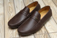 Check Design Men's Loafers Dark Brown in Pakistan