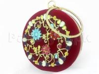 Luxury Velvet Evening Clutch Bag - Red in Pakistan