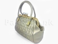 Luxury Fashion Handbag - Silver in Pakistan