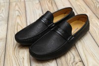 Pattern Design Loafers Men's Black in Pakistan