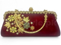 Red Floral Evening Clutch Bag in Pakistan