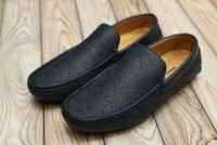 Pattern Slip-on Loafers For Men's Dark Blue in Pakistan