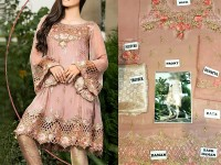 Tea Pink Chiffon Dress with Net Dupatta in Pakistan
