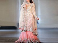 Embroidered Chiffon Bridal Lehenga in Pakistan