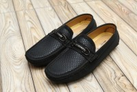 Men's Textured Black Loafers in Pakistan
