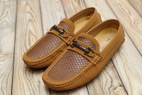Men's Textured Camel Loafers in Pakistan