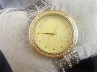MK Rhinestone Bracelet Watch - Two-Tone in Pakistan