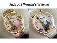Pack of 2 Paris Design Watches For Girls in Pakistan