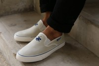 Mens Off White Canvas Slip-on Shoes in Pakistan