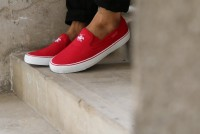 Mens Red Canvas Slip-on Shoes in Pakistan