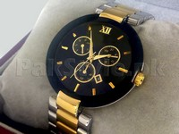 Men's Jubile Watch Two-Tone Black in Pakistan