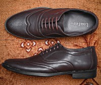 Men's Formal Brogue Shoes - Coffee in Pakistan