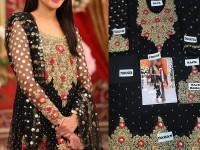 Embroidered Black Chiffon Dress in Pakistan