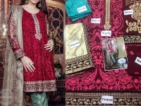 Embroidered Chiffon Dress with Jamawar Shalwar in Pakistan