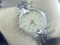 Elegant Rhinestone Silver Bracelet Watch in Pakistan