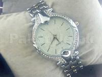 Elegant Rhinestone Silver Bracelet Watch in Pakistan