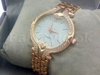 Rhinestone Dial Women's Watch - Rose Gold in Pakistan
