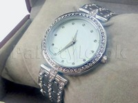 MK Rhinestone Bracelet Watch - Silver in Pakistan