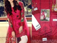 Embroidered Lawn Dress with Net Dupatta in Pakistan