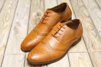 Men's Lace-up Formal Shoes - Camel in Pakistan