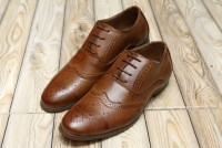 Men's Lace-up Formal Shoes - Brown in Pakistan