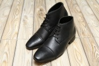 Men's High Top Dress Shoes - Black in Pakistan