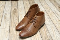 Men's High Top Dress Shoes - Brown in Pakistan