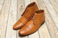 Men's High Top Dress Shoes - Camel in Pakistan