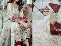 Chiffon Party Dress with Jamawar Trouser in Pakistan