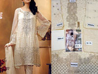 Designer Skin  Chiffon Dress in Pakistan