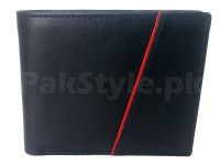 Stylish Black Genuine Leather Wallet in Pakistan